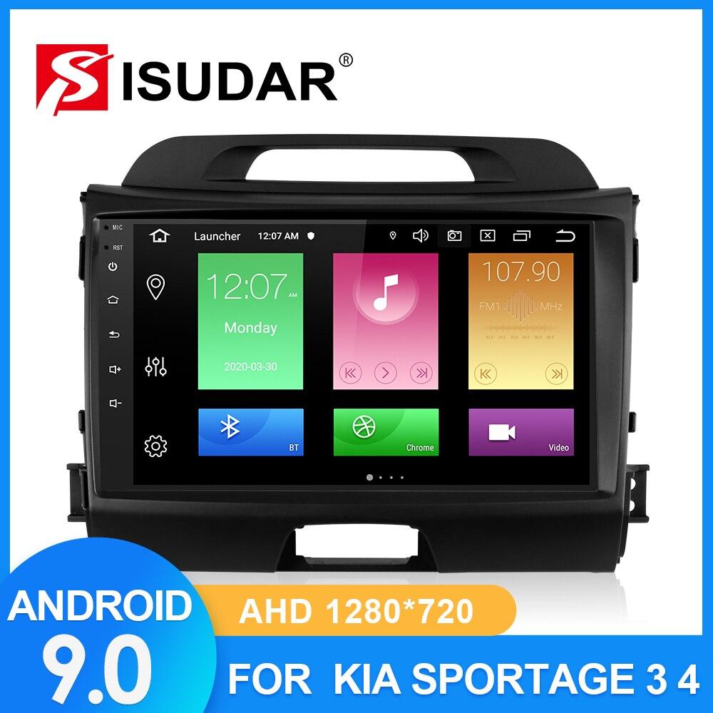 Autoradio ISUDAR pour KIA/Sportage 2010 2011 2012-2016 2 din Android 9 Autoradio multimédia GPS DVR caméra RAM 2GB ROM 32GB USB