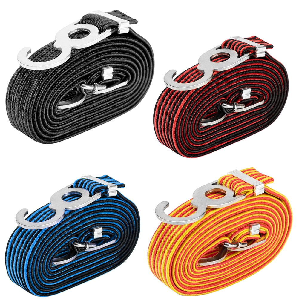 Luggage Tied Rope Stacking Banding Elastic Cord Strap Motorcycle Bicycle Cargo Racks Tied Rubber Straps Rope Band Hooks