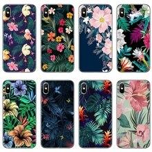 Tropical palm leaves Transparent Phone Case For Samsung Galaxy J7 J5 Prime pro J3 A7 A5 A3 2018 2017 2016 2015