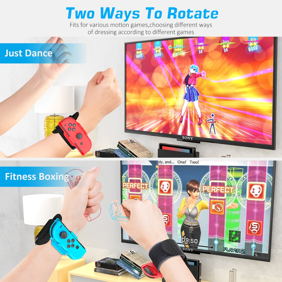 OIVO Switch Adjustable Just-Dance Wrist Bands for NS Joycon Controller Elastic Hand Strap for Nintend Switch Game Accessory enlarge