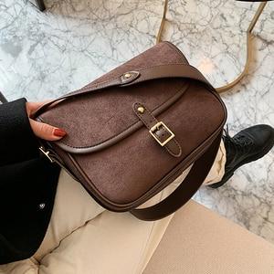 Vintage Scrub Crossbody Bags for Women 2020 Small Flap Female Shoulder Bag Sling High Quality Pu Leather Women's handbag