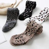 autumn spring kids cotton tights for girls stocking children leopard pantyhose