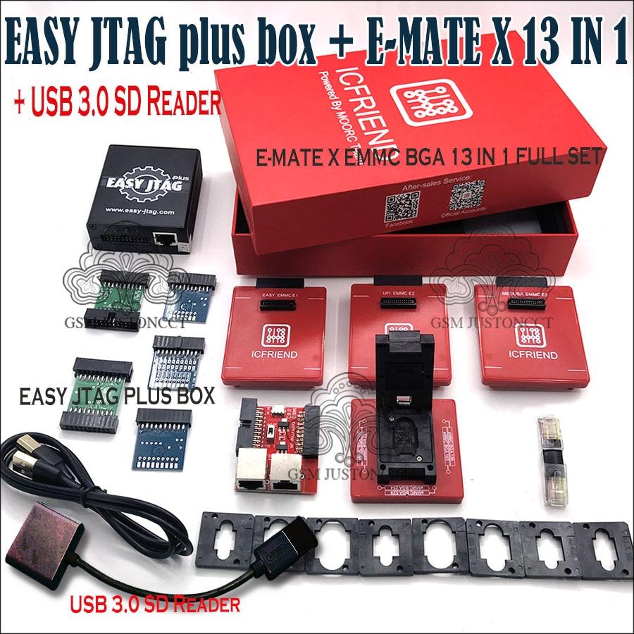 Newest Original z3x - Easy jtag plus box + E-MATE X 13 IN 1 / E-MATE X Emate box EMMC BGA 13 IN 1+ Free Shipping