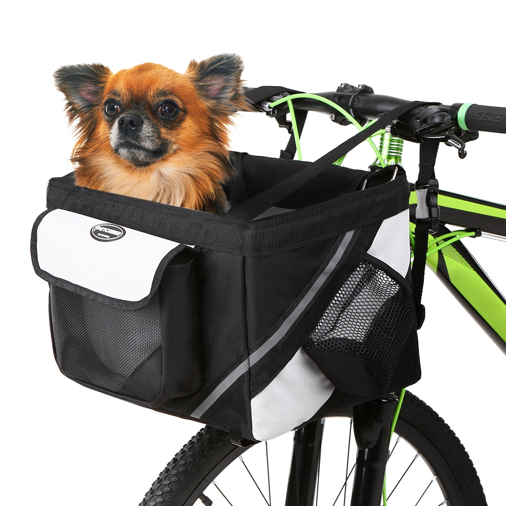 Cesta delantera para manillar de bicicleta, de tela Oxford 600D, para perros y gatos, accesorios para bicicletas