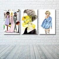 Toile nordique pour femmes  mode Shopping  decor de maison  peinture  affiches dart murales et imprimes