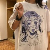 women oversize t shirt white cartoon female kawaii tops tee short sleeve fashion summer funny t shirt for girl hip hop clothes