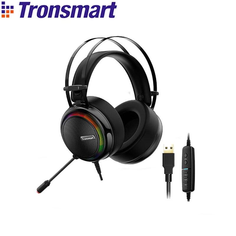 Tronsmart-Auriculares para PS4 Glary, interfaz USB virtual 7,1, auriculares para videojuegos, para...