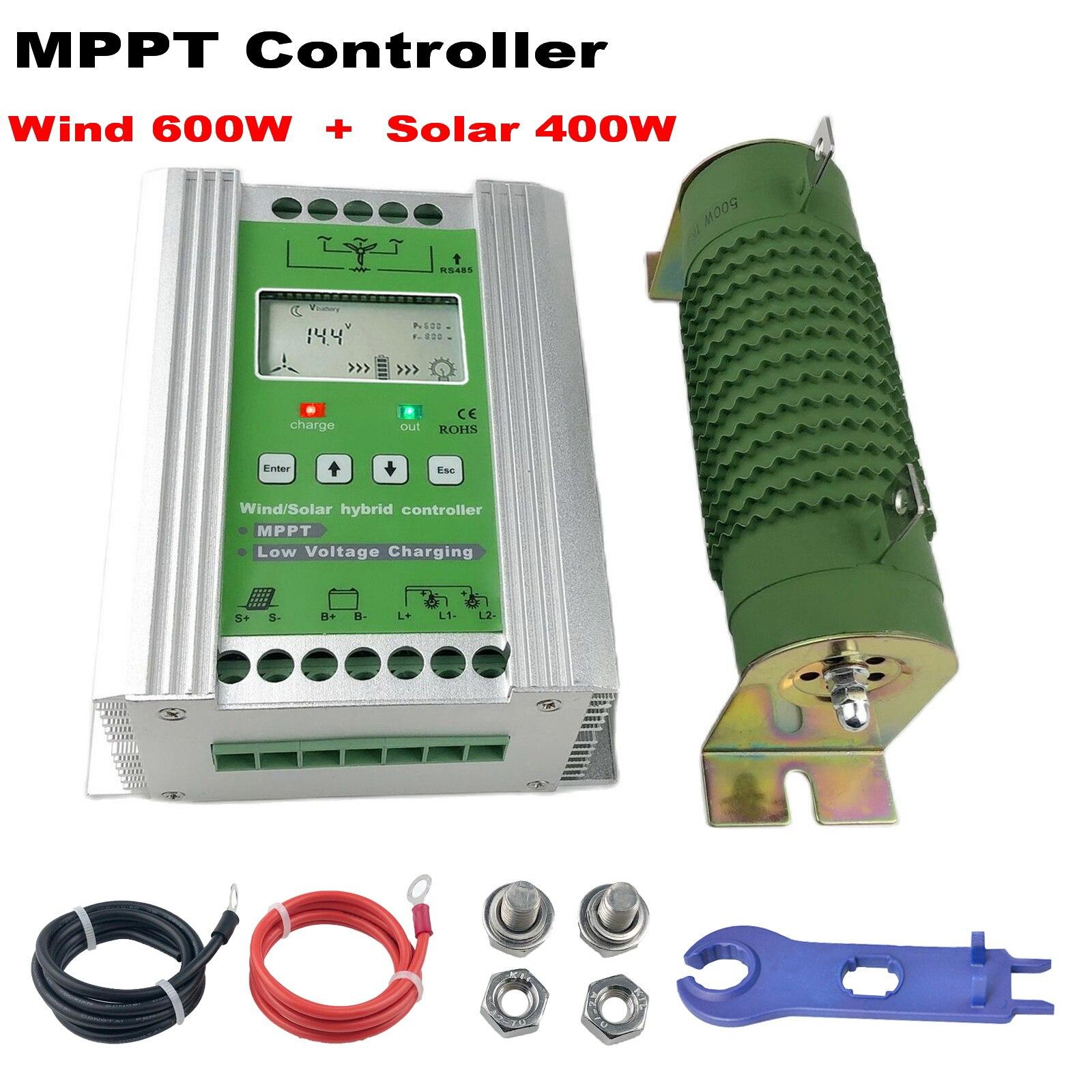 1000 واط MPPT الهجين الرياح الشمسية تهمة التفريغ الداعم تحكم منظم تفريغ تحميل ل 12 فولت 24 فولت بطارية الرصاص الحمضية توربينات الرياح