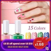 Лак BORN PRETTY для ногтей, 15 цветов, лето стемпинг ногтей покрытие