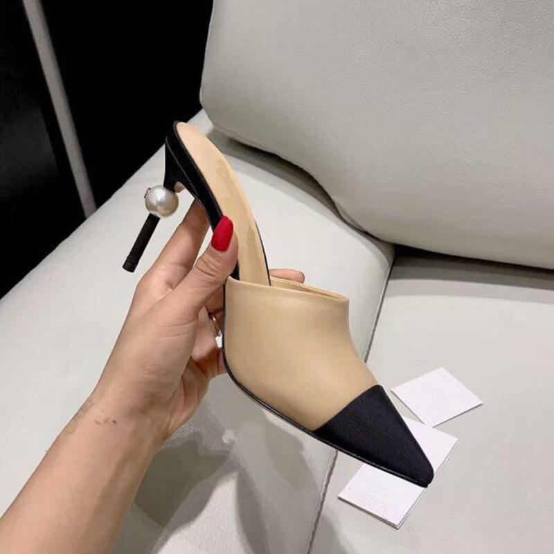Moda apontou toe sapatos femininos mulher salto alto sandálias de verão bombas estilintes sapatos