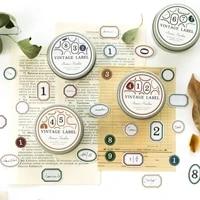 100pcsbox retro small label series decorative simplicity stationery iron box stickers scrapbooking diy diary album stick lable