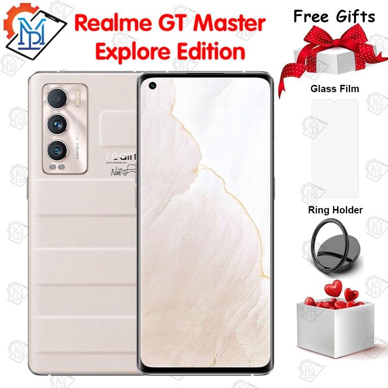 Новое поступление, оригинальные мобильные телефоны Realme GT Master Explore Edition, смартфон 6,55 дюймов FHD + 8 Гб + 128 Гб Snapdragon 870 с камерой 50 МП