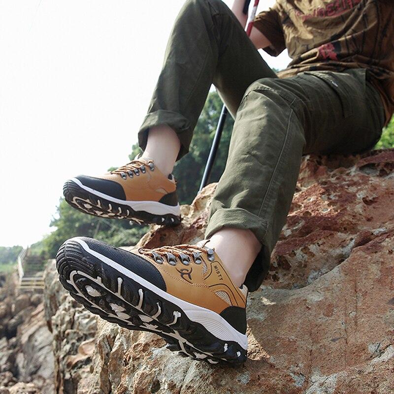Купить с кэшбэком Hiking Shoes Men Outdoor Mountain Climbing Shoes Lightweight Trekking Sport Sneakers Male Hiking Boots Waterproof walking Shoes