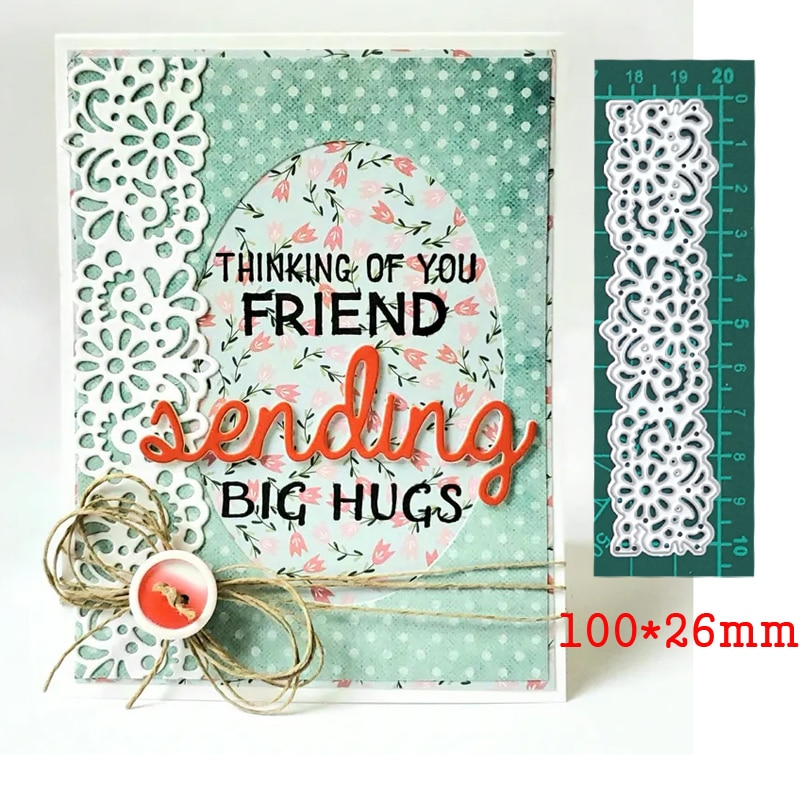 Flower Border Lace Frame Metal Cutting Dies For Stamps Scrapbooking Stencils DIY Paper Album Cards Decor Embossing 2020 New