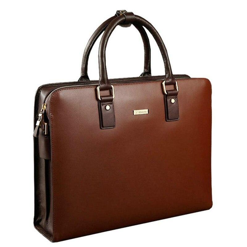 GUANGHUIXB Fashion Men's One-shoulder Portable Business Briefcase Large-capacity Leather Business Computer Lawyer Handbag