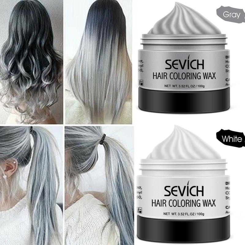 Neutral DIY Hair Color Wax Dye Cream Temporary Modeling 8 Yanpunk Hair Dye Light Gray Silver Red Blue