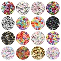 acrylic square cube flat round mixed letter alphabet charm spacer loose beads for jewelry making diy bracelets accessories 67mm