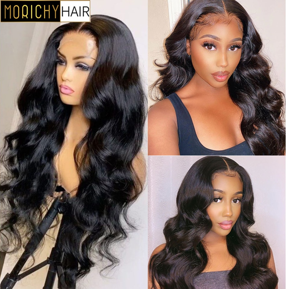 Morichy Hair Peruvian Body Wave Lace Front Wig 4x4 Body Wave Lace Closure Wigs For Women Human Hair Wigs Lace Closure Wigs