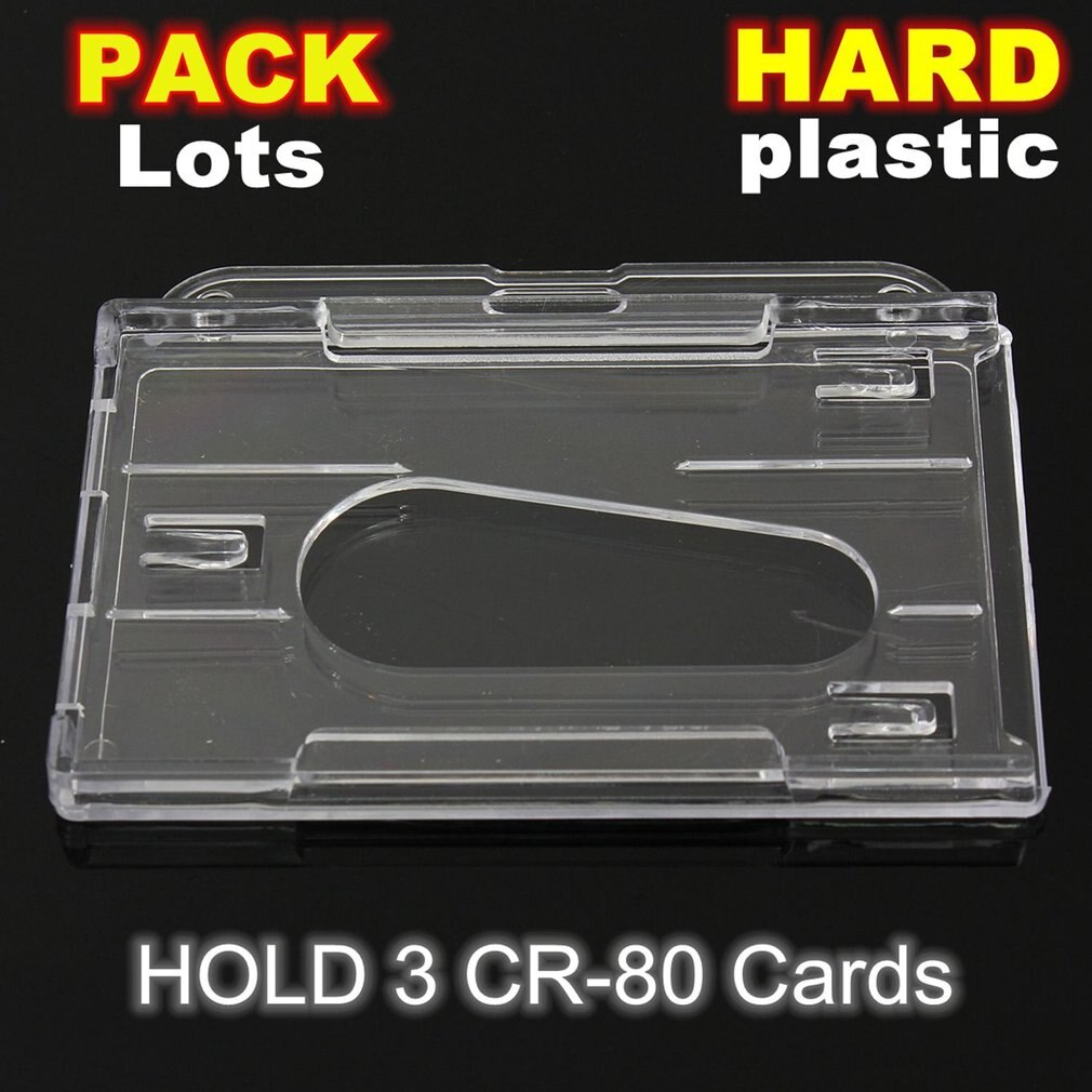1 Pza portatarjetas de plástico duro de doble cara portatarjetas transparentes portatarjetas horizontales portatarjetas