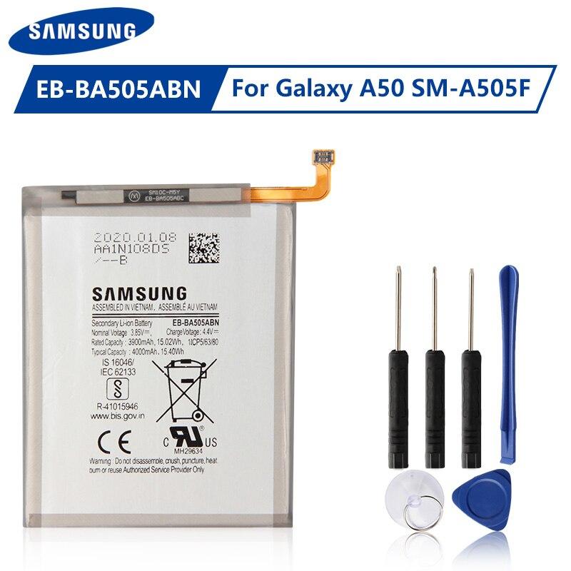 EB-BA505ABU de batería Original Samsung EB-BA505ABN para Samsung Galaxy A30 A30S A50 A505F SM-A505F batería genuina 4000mAh