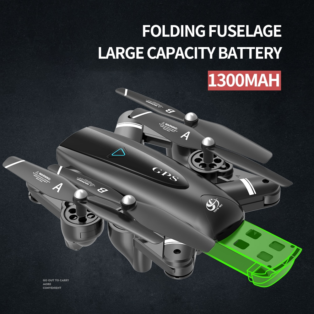 S167 5G Drone GPS RC Quadcopter With 1080P Camera WIFI FPV Foldable Off-Point Flying Gesture Photos Video Helicopter Toy Gifts enlarge