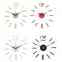3D grande horloge murale autocollants precipite miroir autocollant mural bricolage salon decor a la maison mode montres arrivee Quartz horloges murales
