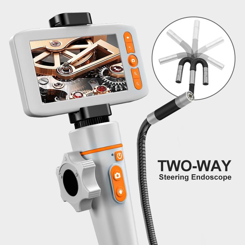 Endoscopio articolato per iPhone telecamera di ispezione automobilistica con boroscopio flessibile a 2 vie e 180 gradi