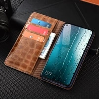 classical style genuine leather wallet case for xiaomi redmi note 10 10s pro max magnetic flip cover cases
