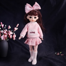 UCanaan 1/6 BJD Doll 12 Inch 13 Removable Joints Dolls Cute Girls Toy With Clothes Shoes Birthday Gi