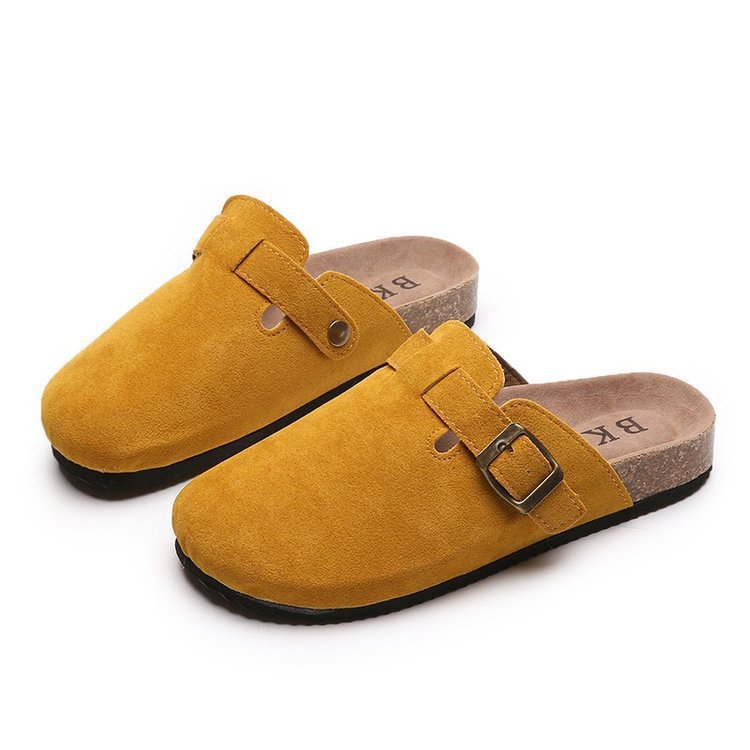 Women's shoes Baotou women's autumn and winter hot-selling style half slippers flat large size single leg lazy slippers fashion