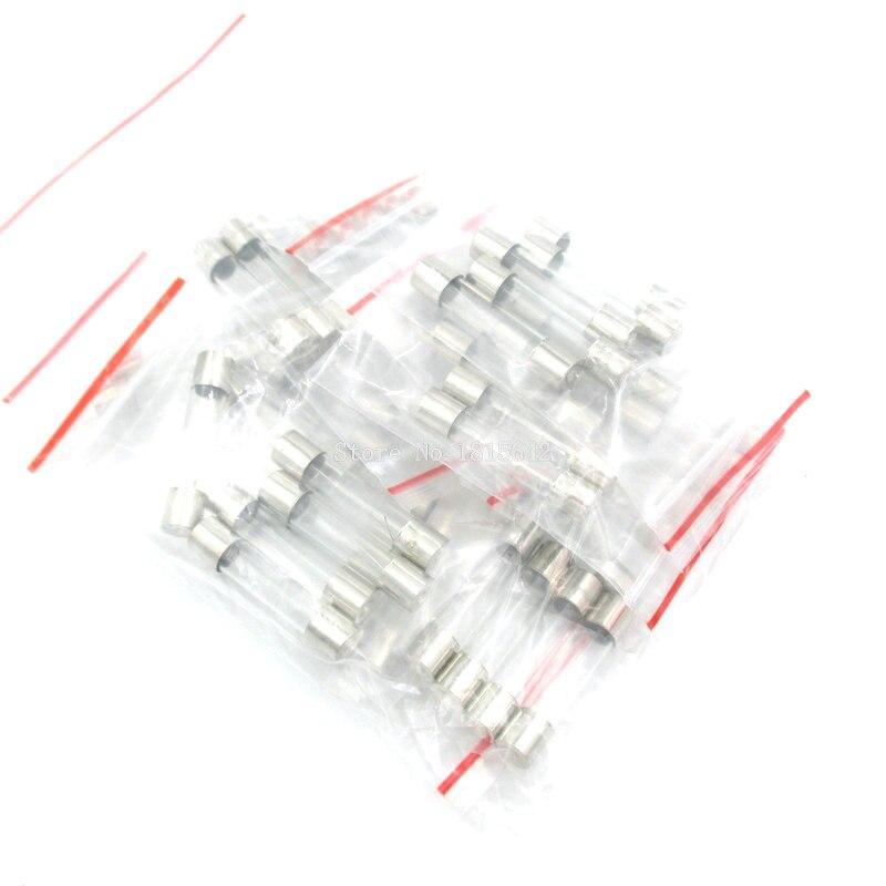 50 PCS/LOT 10 Types Rapide 5x20mm Verre Fusible Kit En Paquet 0.2A 0.5A 1A 2A 3A 5A 6A 8A 10A 15A/250 V 5*20 Tube Dassurance Paquet