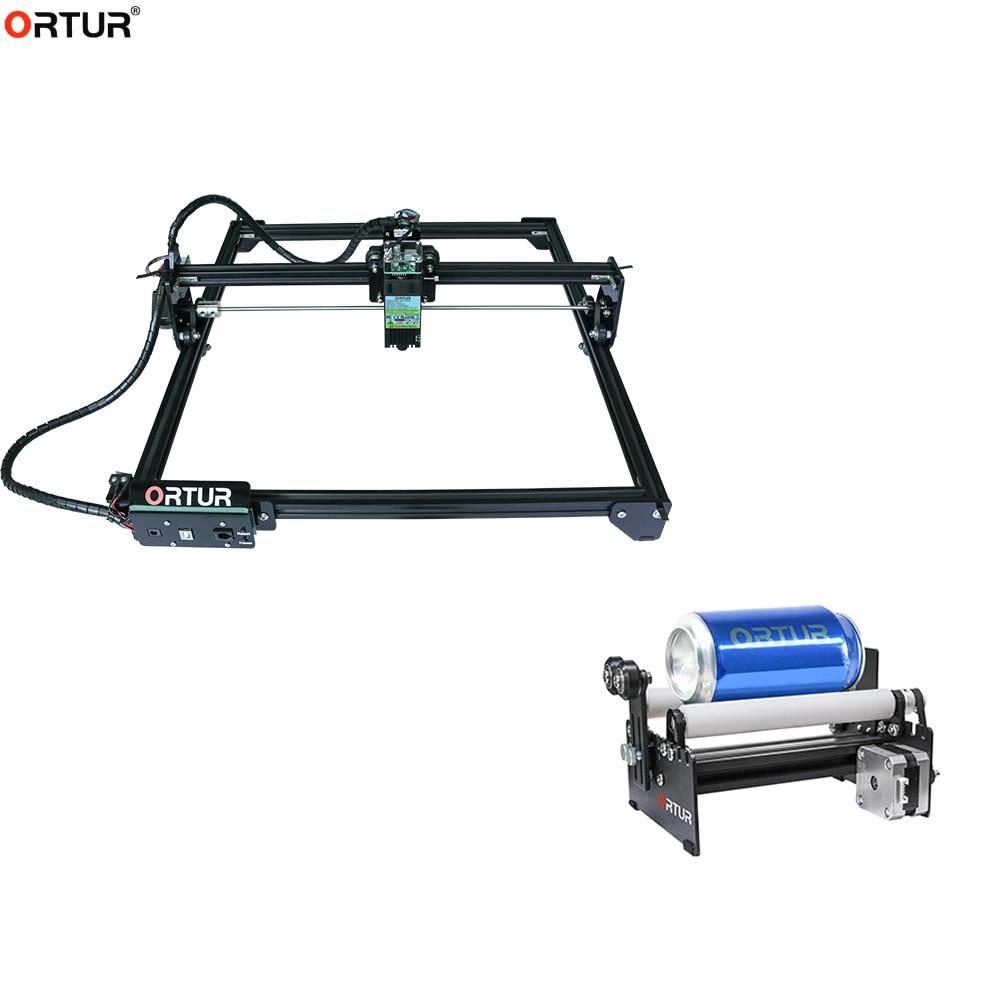 Ortur-Laser Master 2 مع طاولة دوارة ، نقش الشعار ، آلة قطع النقش ، علامات صور الشعار لنقش أسطوانة العمود