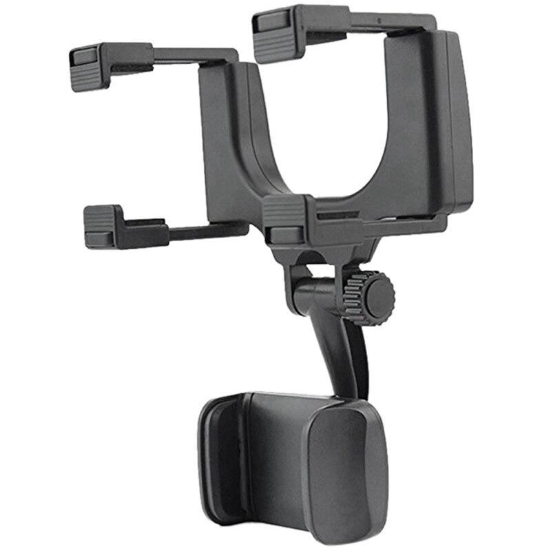 Suporte do telefone celular-suporte de montagem do carro espelho retrovisor do carro caminhão suporte automático berço para iphone xs/x/11, samsung galaxy, h