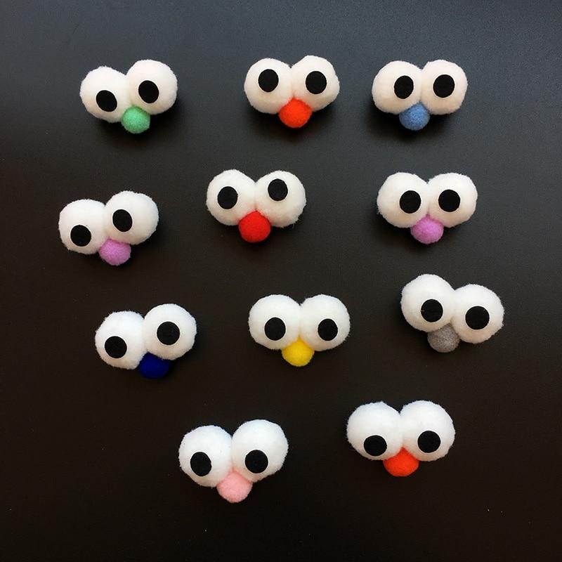 6pcs 3.5/4.5/5.5cm Mix Size/Color Doll Plush Stuff Cotton Eye Filled Soft Eyes for DIY Making Doll for Socks Hat Decoration