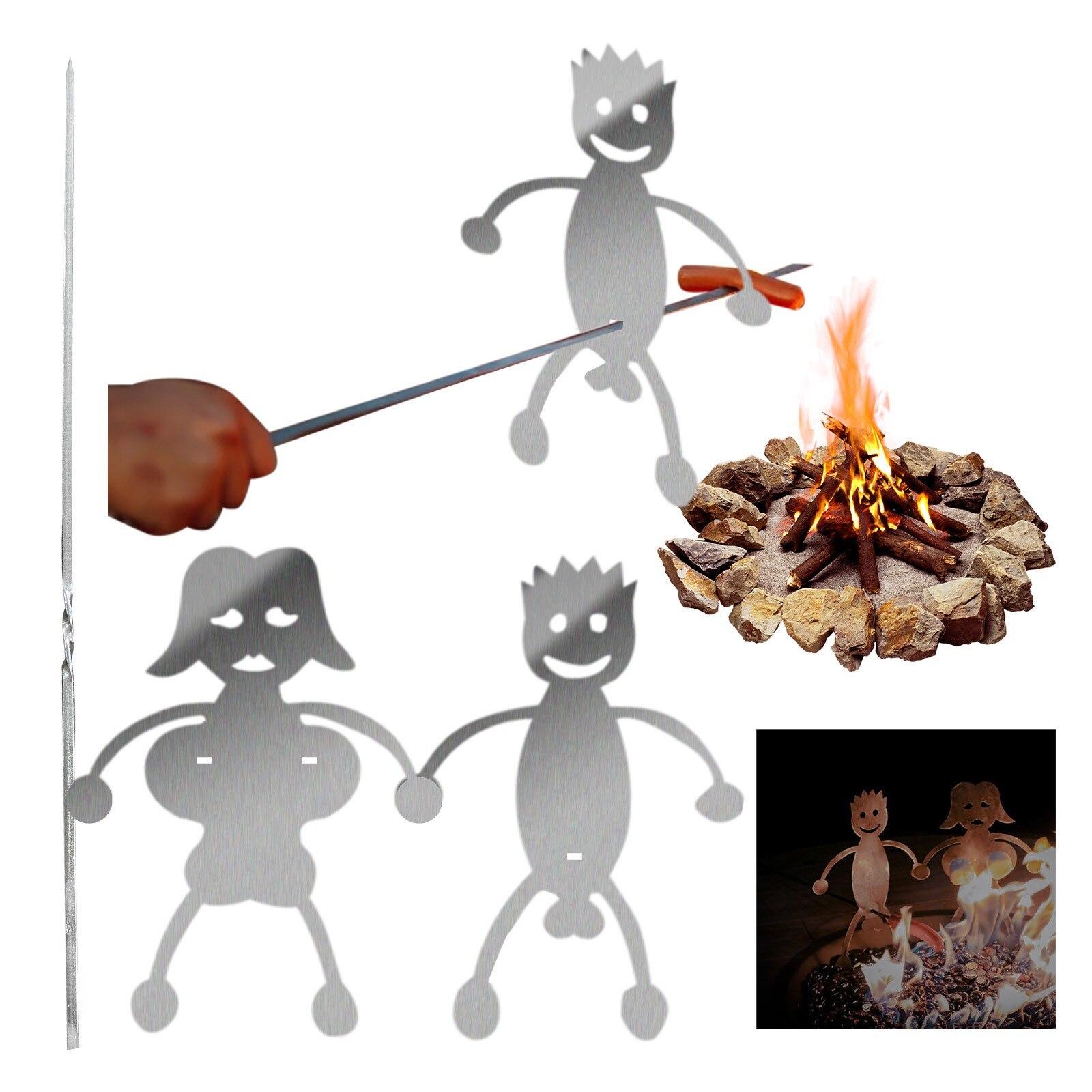 Вилки для барбекю костра и гриль хот дог мальчик человек зефир девочек горелки