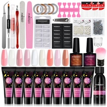Manicure Set Poly Extension Nail Kit Gel Nails Complete Kit Gel For Extension Semi Permanent UV Varn