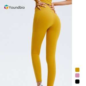 YOUNDBIO New 2021 With Pocket High Waist Women Yoga Pants Sport Fitness Running Workout Leggings Gym Push Up Home Casual Tights