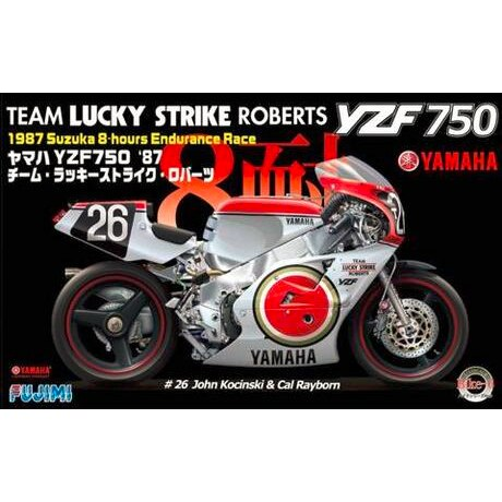 FUJIMI-لعبة تجميع Moder 1/12 ، YAMAHA YZF750 1987 ، Lucky Ver ، دراجة نارية ، #14136