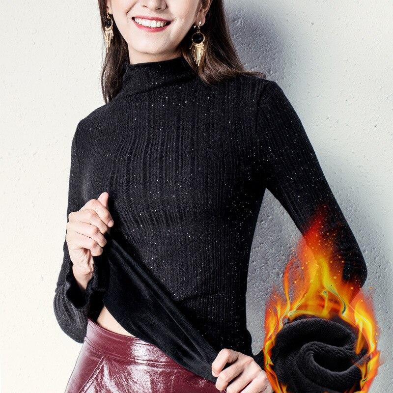 Moda Ruffles jesień zima 2019 nowy sweter kobiety rozciągliwy Slim z długim rękawem z bluza polarowa sweter z dzianiny topy M99905