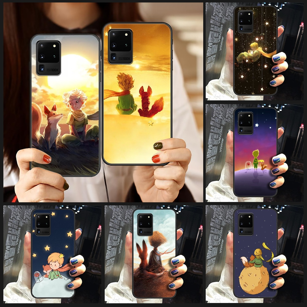 The Little Prince and the fox Phone Case Cover Hull For Samsung Galaxy S 6 7 8 9 10 e 20 edge uitra Note 8 9 10 plus black prime
