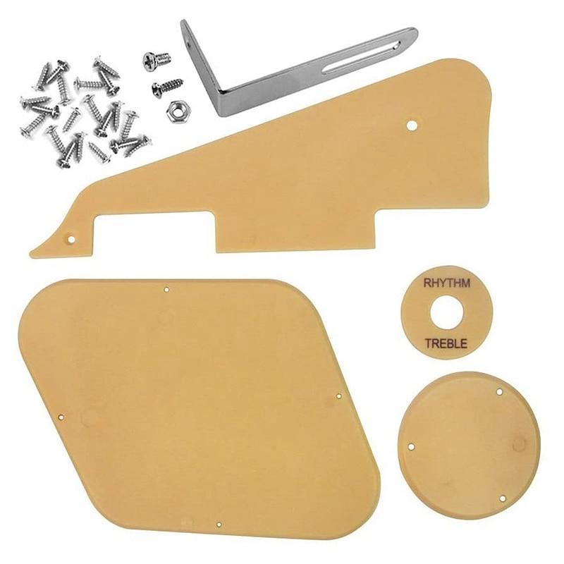 1 Набор желтых чехлов для переключателей на полость пикапа, набор для зажима, винты с кронштейном, подходит для гитары Les Paul
