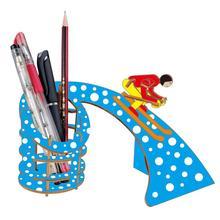 3D wooden three-dimensional jigsaw puzzle DIY simulation model ski pen holder