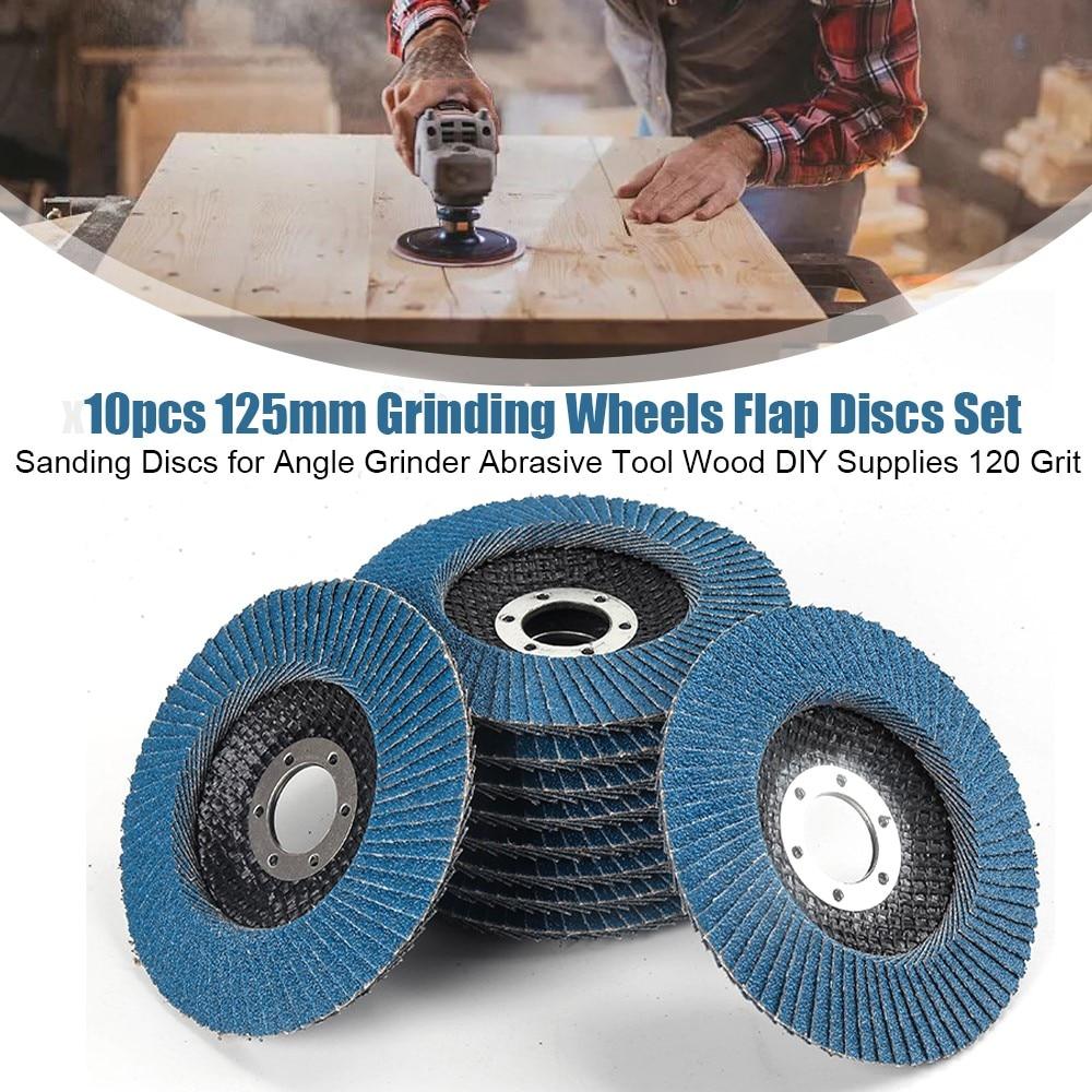 10 шт./партия 125 мм Шлифовальные Диски с откидной крышкой, шлифовальные диски для угловой шлифовальной машины, абразивный инструмент, деревян...
