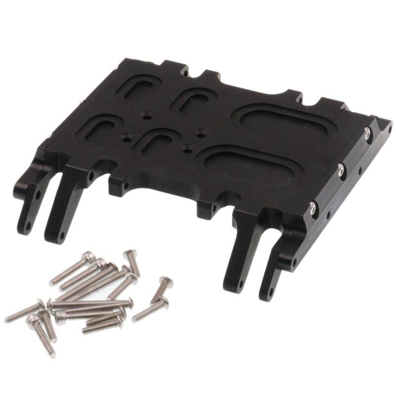 Placa deslizante de aluminio CNC de montaje en caja de engranaje central para Axial Wraith 90018 90020 90031 RC Rock Crawle, negro