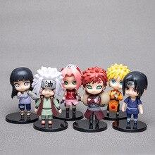 6 pièces/lot 9.5cm japon bande dessinée Naruto figurines Kakashi Sakura Sasuke Itachi Obito Gaara PVC jouets modèle Figurine