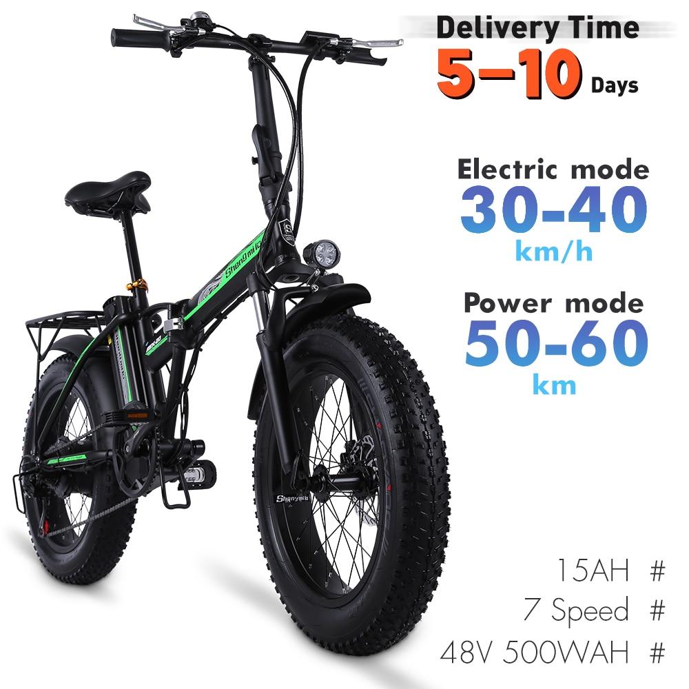 aliexpress - Electric Bike 500W4.0 Fat Tire Electric Bicycle Beach Cruiser Bike Booster Bike 48v Lithium Battery Folding Mens Women's Ebike