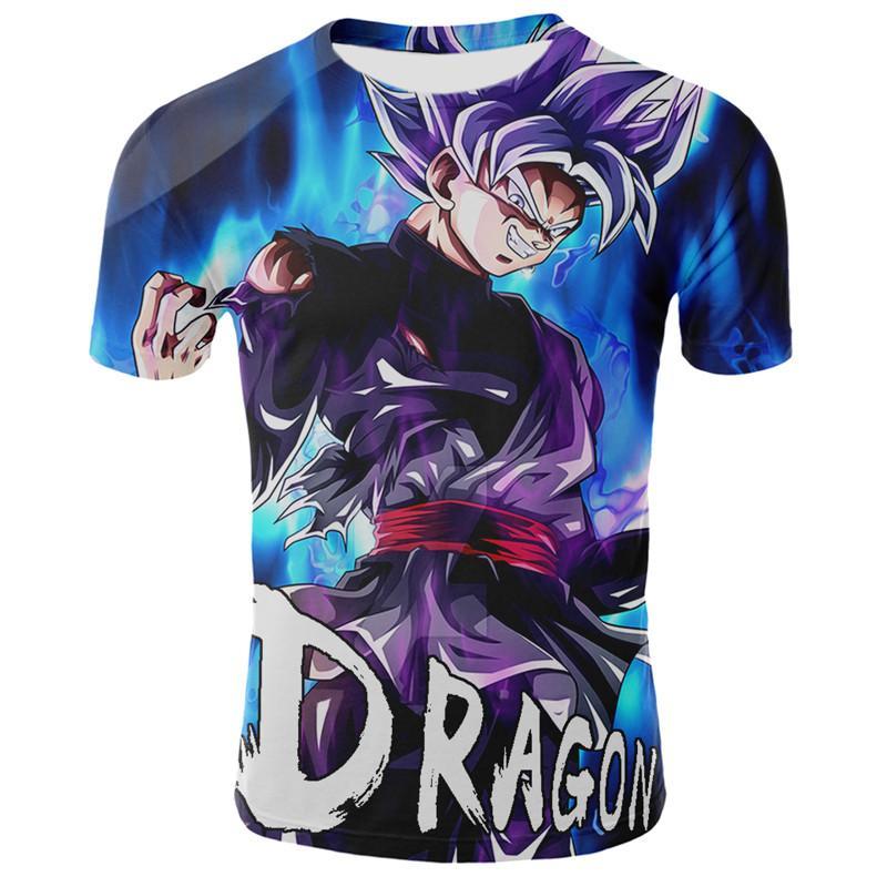 Super Saiyan 3D T Shirt Anime Dragon Ball Z Goku Fashion Tee Tops Men / Boys casual Male Print Cartoon T-shirt Size S-4XL