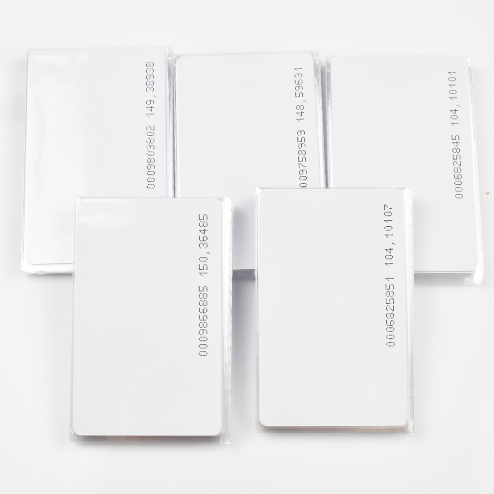 5/10pcs/Lot RFID Card 125khz TK4100 Blank Smart Card EM4100 ID PVC Card with UID Series Number for Access Control System