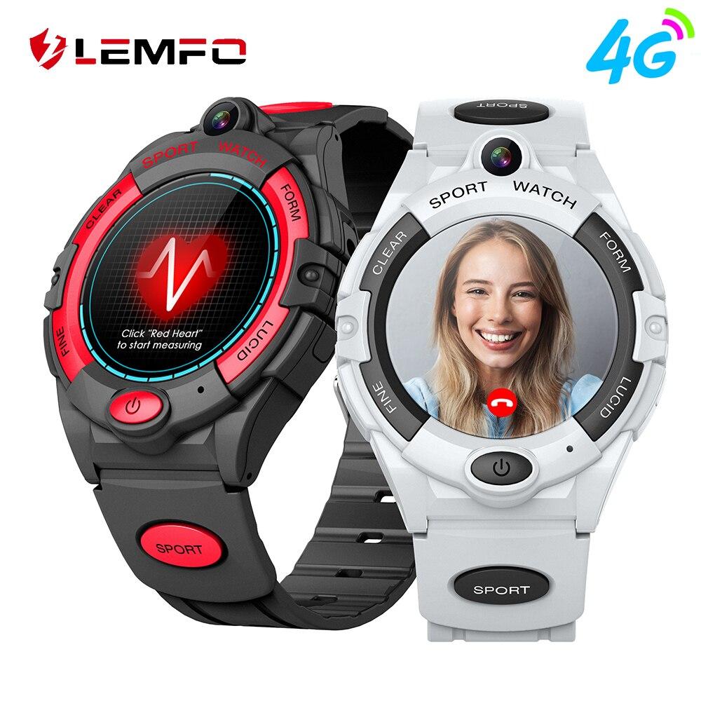 LEMFO ساعة ذكية للأطفال 4G ساعة الهاتف للأطفال مع بطاقة Sim مكالمة فيديو مقاوم للماء لتحديد المواقع الفتيان الفتيات هدية ل IOS أندرويد