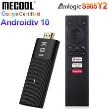 ТВ-приставка Mecool KD1 Amlogic S905Y2 Android 10 2 Гб 16 Гб Поддержка Google Certified Voice 1080P 4K 2,4G & 5G Wifi BT TV Dongle